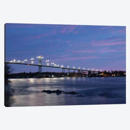 Bridge at Night Canvas Print #LOD316} by Lori Deiter Canvas Art Print