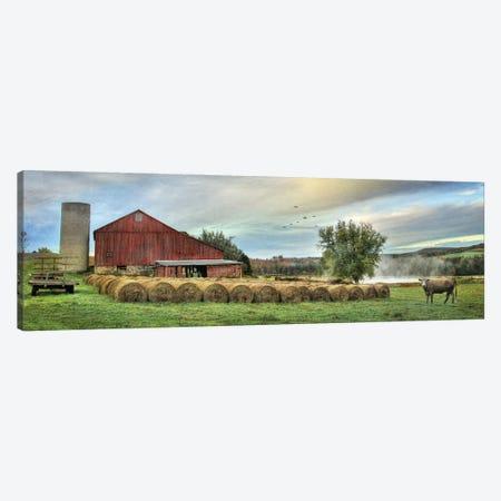 Hay Harvest Canvas Print #LOD323} by Lori Deiter Art Print