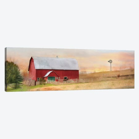 Horse Farm Canvas Print #LOD324} by Lori Deiter Canvas Artwork