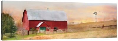 Horse Farm Canvas Art Print