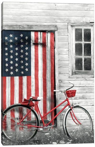 Patriotic Bicycle Canvas Art Print