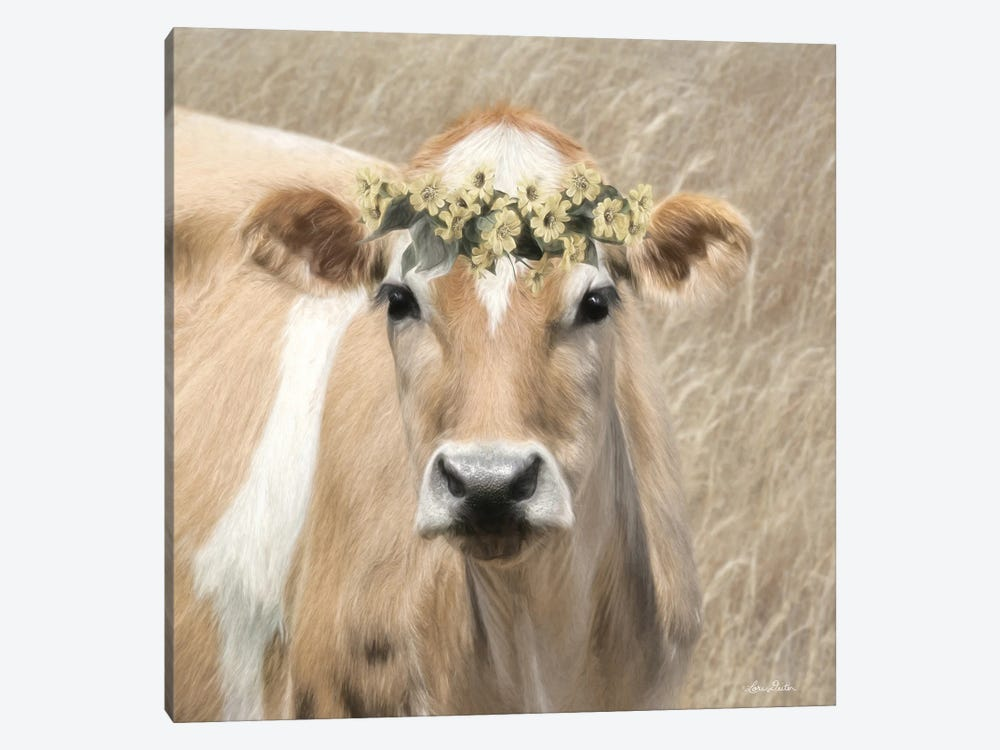 Floral Cow I by Lori Deiter 1-piece Art Print