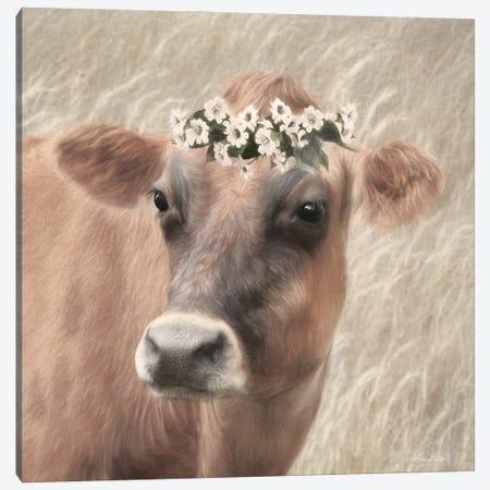 Floral Cow II Canvas Print #LOD339} by Lori Deiter Canvas Artwork
