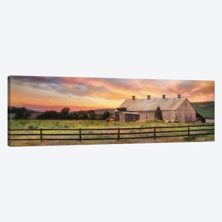 Sunset In The Valley Canvas Print #LOD345} by Lori Deiter Canvas Art