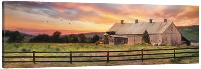 Sunset In The Valley Canvas Art Print