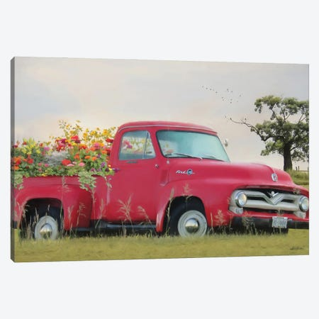 Truckload Of Happiness 3-Piece Canvas #LOD347} by Lori Deiter Canvas Artwork