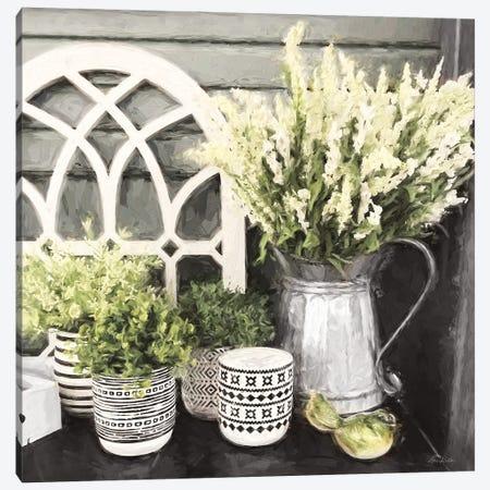 Black And Green Still Life Canvas Print #LOD359} by Lori Deiter Canvas Art