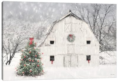 Christmas In The Country Canvas Art Print