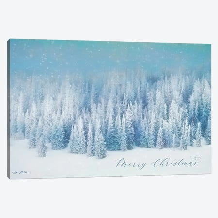 Snowy Turquoise Forest Canvas Print #LOD378} by Lori Deiter Canvas Art