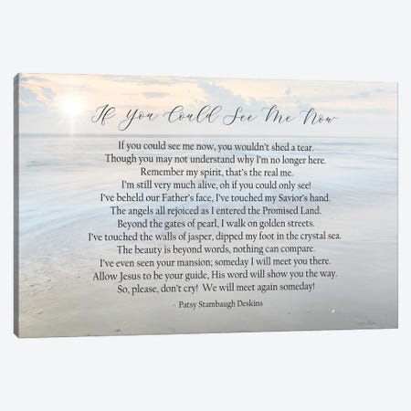 If You Could See Me Now - Ocean Canvas Print #LOD433} by Lori Deiter Canvas Print