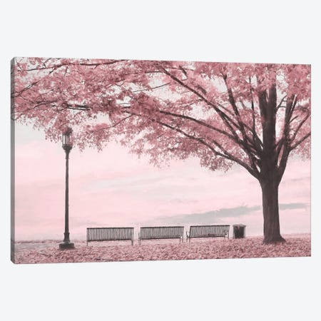 Moody Pink Day In The Park Canvas Print #LOD443} by Lori Deiter Canvas Wall Art