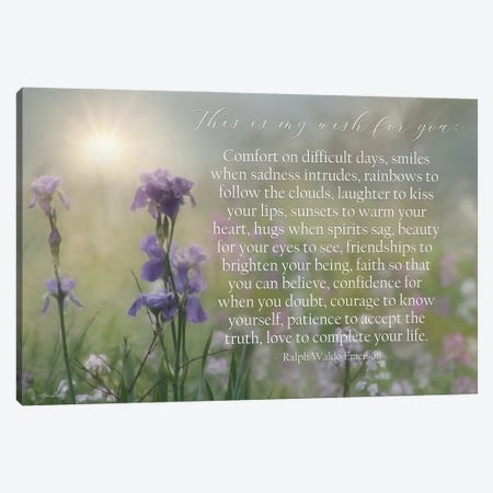 My Wish For You - Floral Canvas Print #LOD444} by Lori Deiter Canvas Print