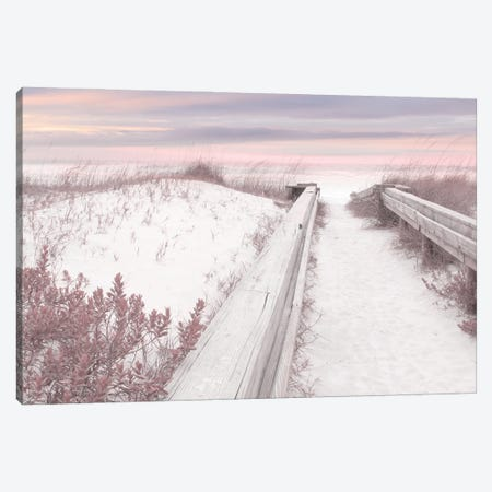 Pink Seaside Canvas Print #LOD455} by Lori Deiter Canvas Artwork