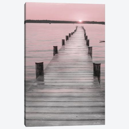 Pink Sunset At The Dock Canvas Print #LOD456} by Lori Deiter Canvas Art