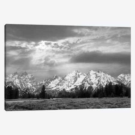 Sunlight On The Tetons Canvas Print #LOD467} by Lori Deiter Art Print