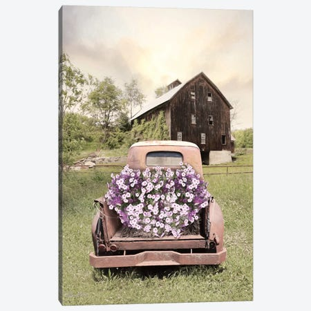 Petunia Truck 3-Piece Canvas #LOD50} by Lori Deiter Canvas Print