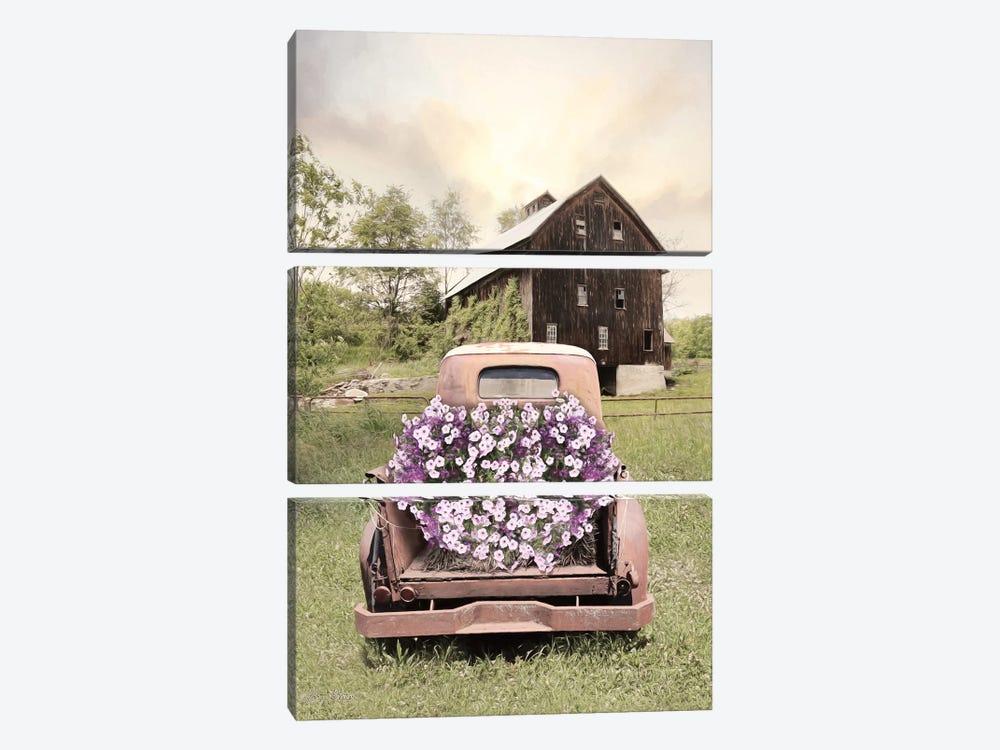 Petunia Truck by Lori Deiter 3-piece Art Print