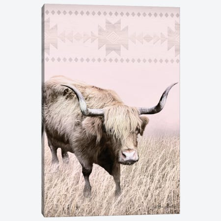 Rosie the Cow Canvas Print #LOD51} by Lori Deiter Art Print