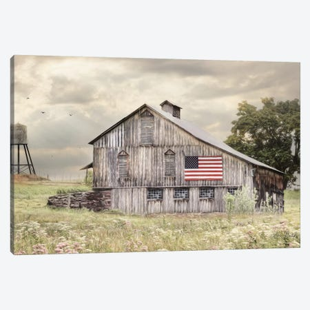 Rural Virginia Barn Canvas Print #LOD52} by Lori Deiter Art Print