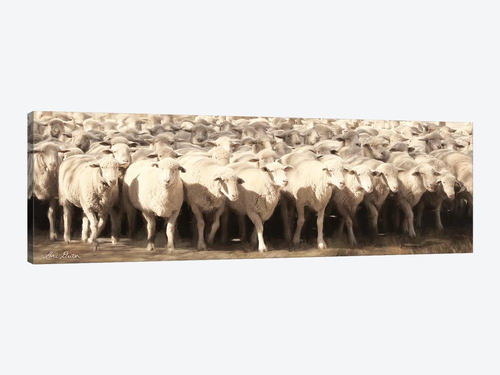 Sheep Herding by Lori Deiter 1-piece Canvas Artwork