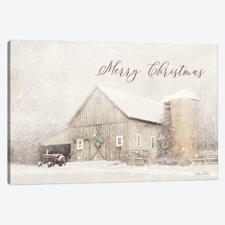 Merry Christmas Farm Canvas Print #LOD73} by Lori Deiter Art Print