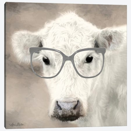 See Clearly Cow  Canvas Print #LOD75} by Lori Deiter Canvas Wall Art