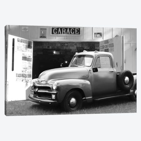Chevy at Country Garage Canvas Print #LOD81} by Lori Deiter Canvas Wall Art