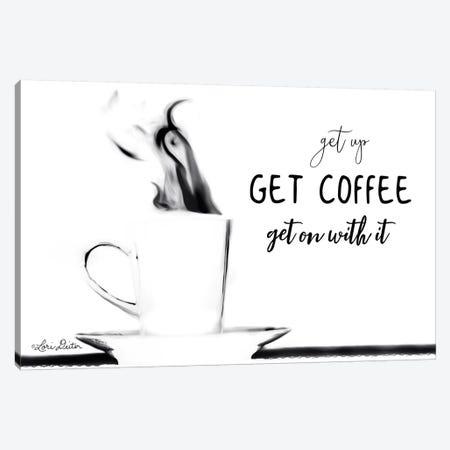 Get Coffee Canvas Print #LOD89} by Lori Deiter Canvas Wall Art
