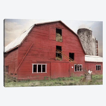 Hay Filled Barn Canvas Print #LOD91} by Lori Deiter Canvas Art Print