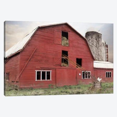 Hay Filled Barn Canvas Print #LOD91} by Lori Deiter Canvas Art Print