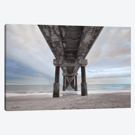 Beneath the Outer Banks Beach Pier    Canvas Print #LOD9} by Lori Deiter Canvas Artwork
