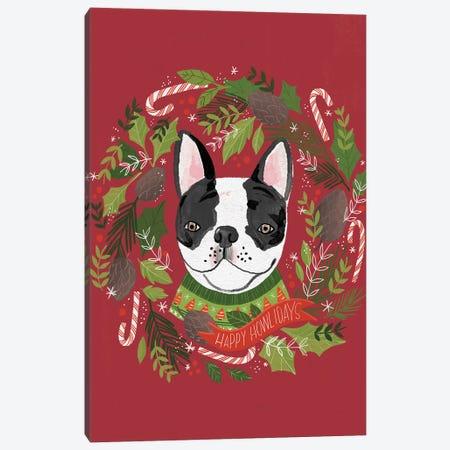 Christmas Happy Howlidays Canvas Print #LOH19} by Loni Harris Canvas Print