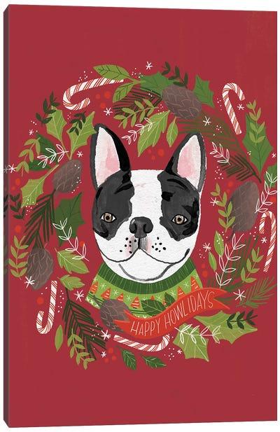 Christmas Happy Howlidays Canvas Art Print