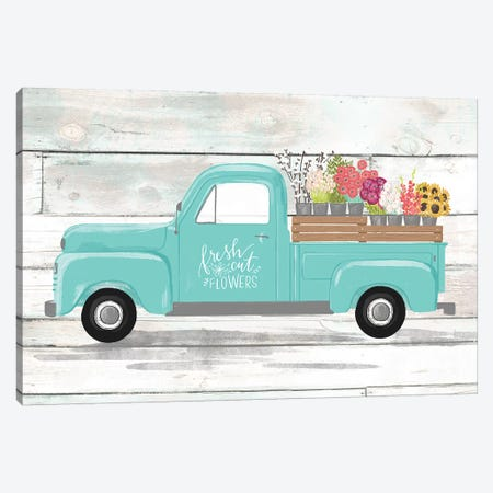 Farmhouse Everyday Plow And Teal III Canvas Print #LOH35} by Loni Harris Canvas Wall Art