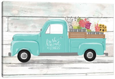 Farmhouse Everyday Plow And Teal III Canvas Art Print