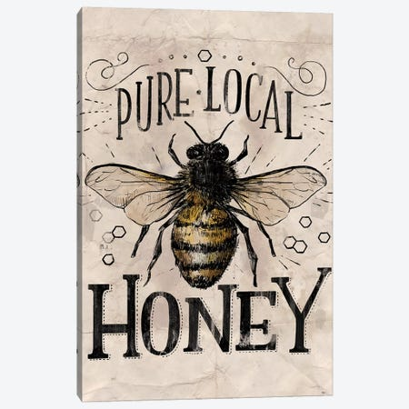 Everyday Vintage Bee Canvas Print #LOH36} by Loni Harris Canvas Art