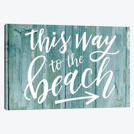 Beach Seas The Day II Canvas Print #LOH39} by Loni Harris Art Print