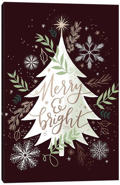 Christmas Quiet Snowflakes II Canvas Art Print