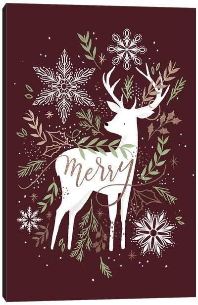 Christmas Quiet Snowflakes III Canvas Art Print