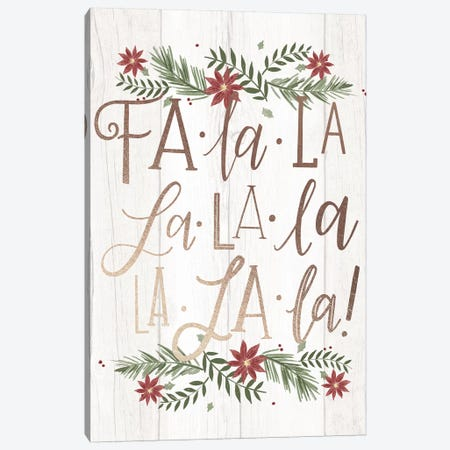 Christmas Fa La La Farm Christmas II 3-Piece Canvas #LOH50} by Loni Harris Canvas Art Print