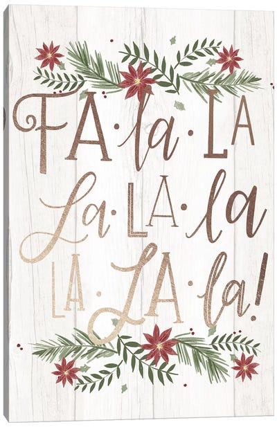 Christmas Fa La La Farm Christmas II Canvas Art Print
