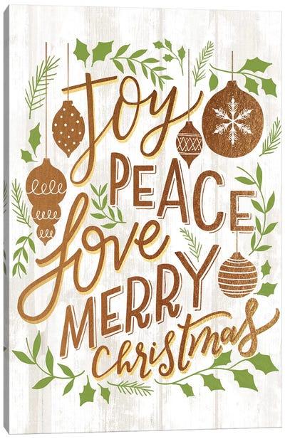 Christmas Lettered Joy I Canvas Art Print