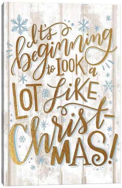 Christmas Lettered Joy II Canvas Art Print