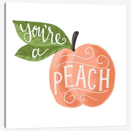 Peachy Canvas Print #LOH60} by Loni Harris Canvas Art