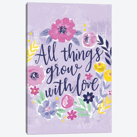 Everyday - Be Fab And Grow I Canvas Print #LOH62} by Loni Harris Canvas Artwork