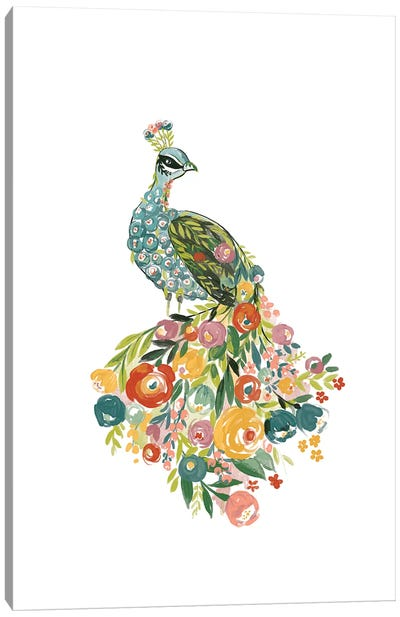 Floral Flight Canvas Art Print