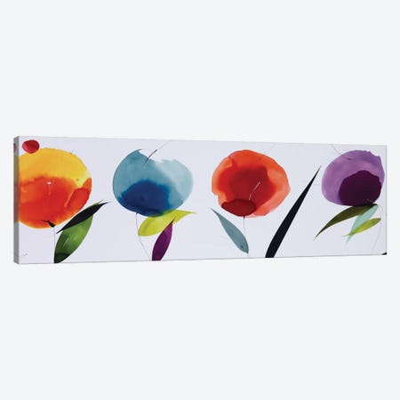 Rainbow Bloom Canvas Print #LOL27} by Lola Abellan Canvas Art Print