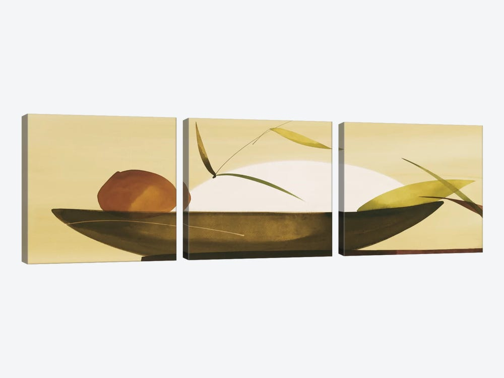 Secillez Oriental I by Lola Abellan 3-piece Canvas Print