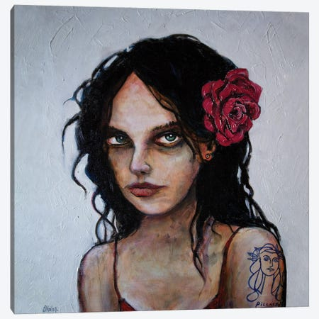 Girl With The Picasso Tattoo Canvas Print #LOM15} by Leith O'Malley Art Print