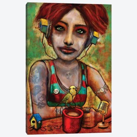 Bird House Girl Canvas Print #LOM24} by Leith O'Malley Canvas Wall Art